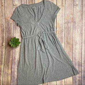 Splendid Gray Drawstring Waist Dress Sz. S